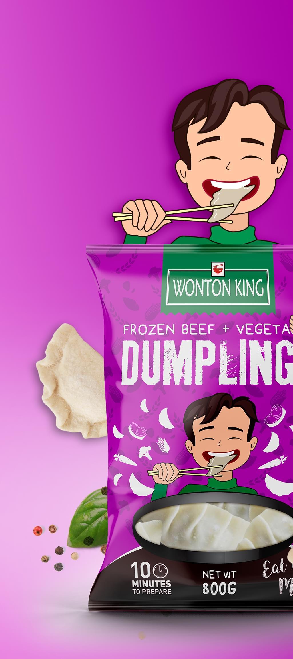WONTON KING Packaging