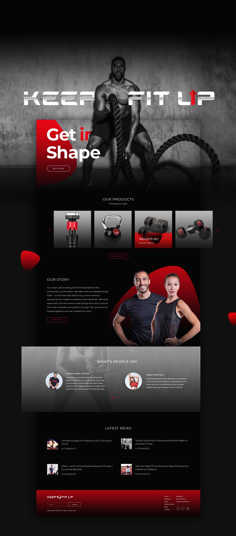 Keep Fit Up   Order No.1 Custom Web Design   Branding Agency Web & Development
