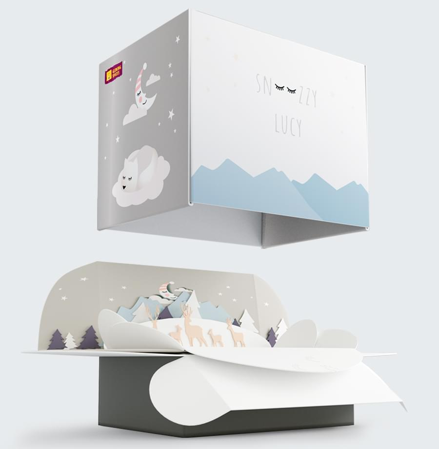 Snoozzy Lucy Packaging