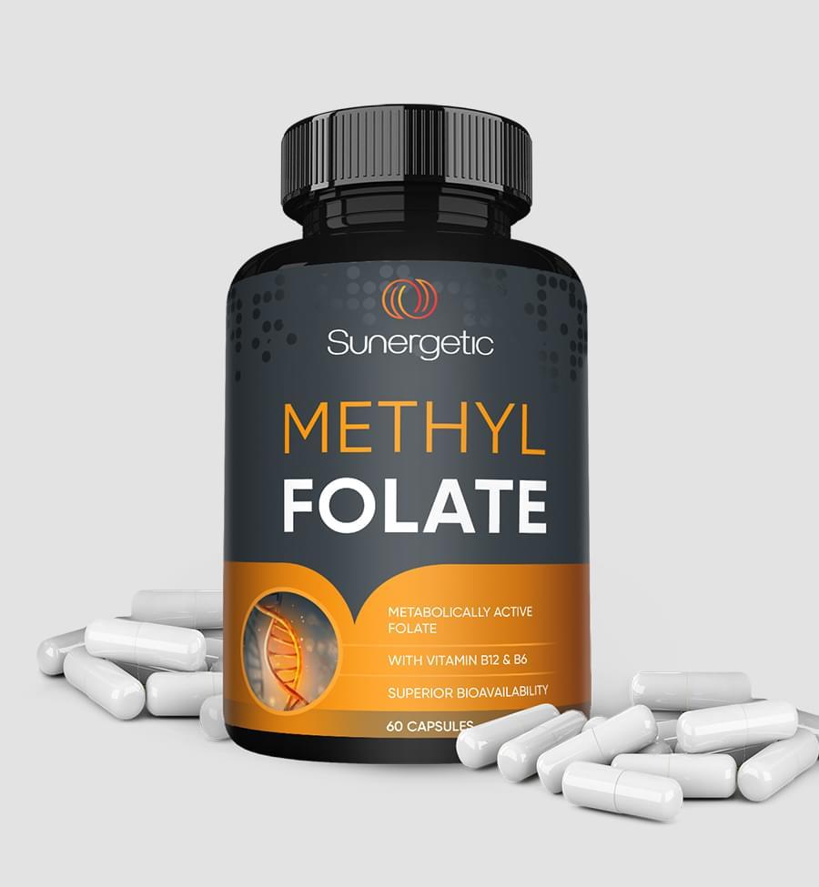 Methyl folate dietary supplement Packaging