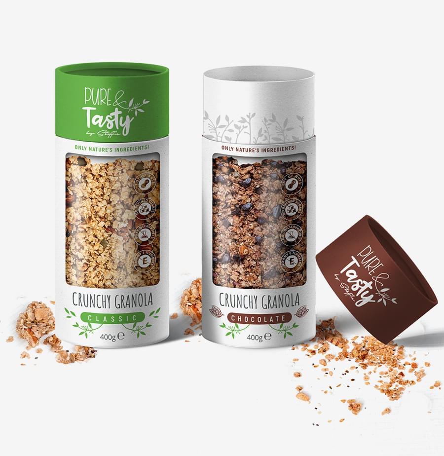 PURE & TASTY Packaging